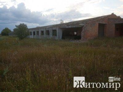 У Радомишльському районі виставлено на аукціон недобудовану ферму