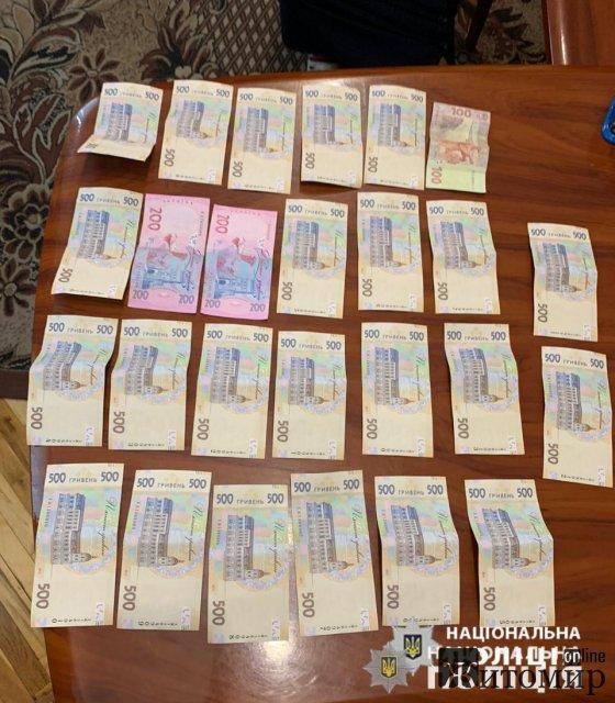 """На Житомирщині затримали жінку, яка за тисячу доларів намагалася """"відкупити"""" брата. ФОТО"""