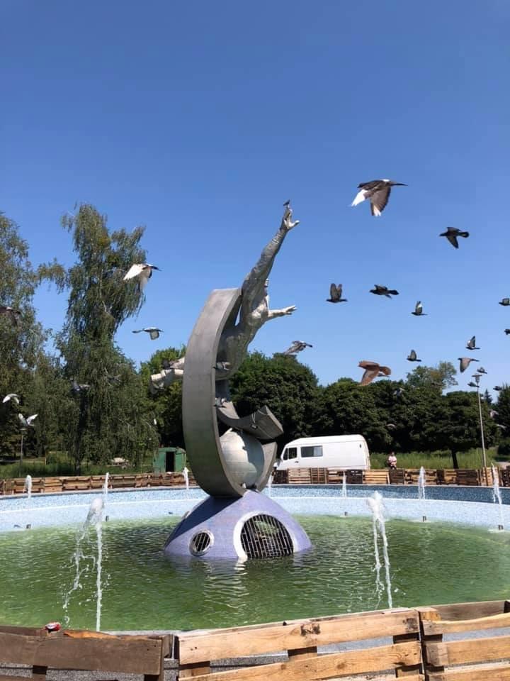 У Житомирі завершили реконструкцію фонтану на Польовій