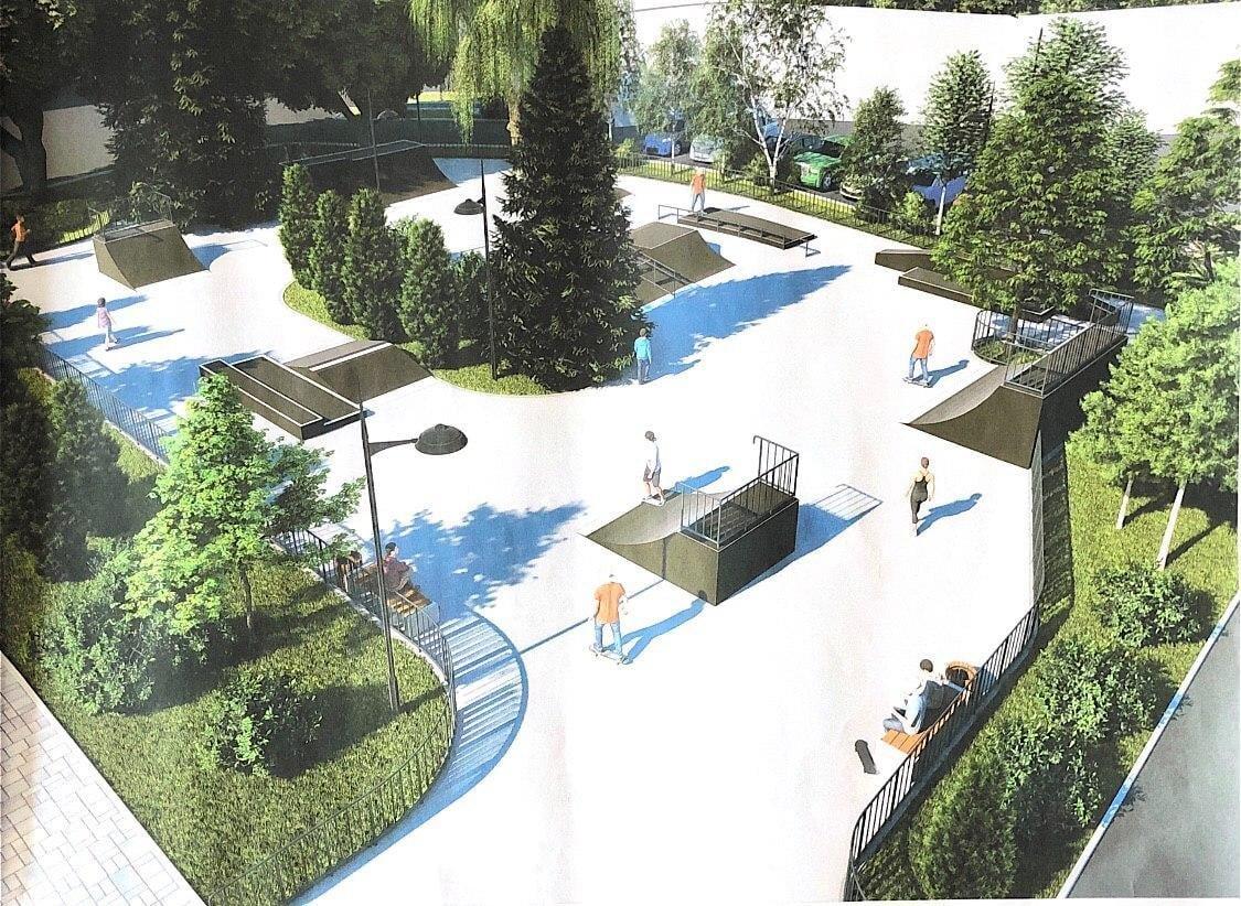 У мерії показали проект скейт-парку в центрі Житомира