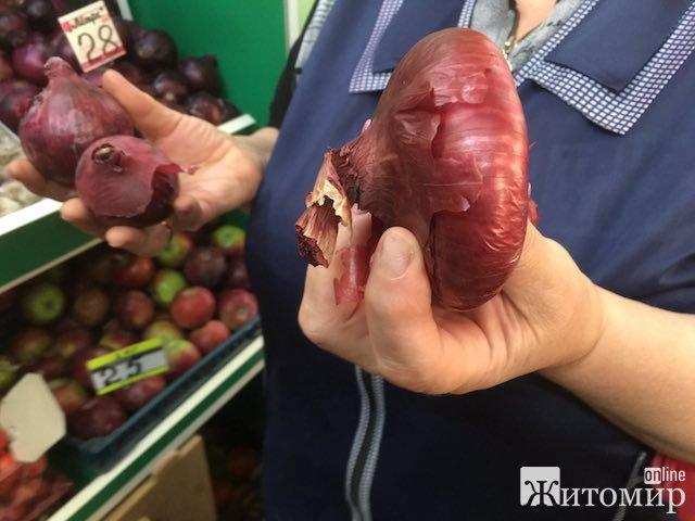 """У Житомирі на Житньому ринку з'явилася """"ялтинська"""" цибуля. ФОТО"""