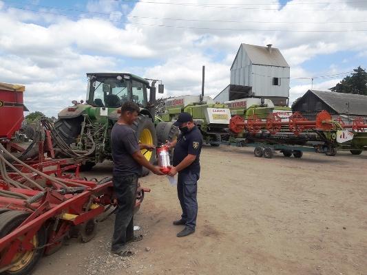 Житомирська область: рятувальники контролюють процес зернозбиральної кампанії