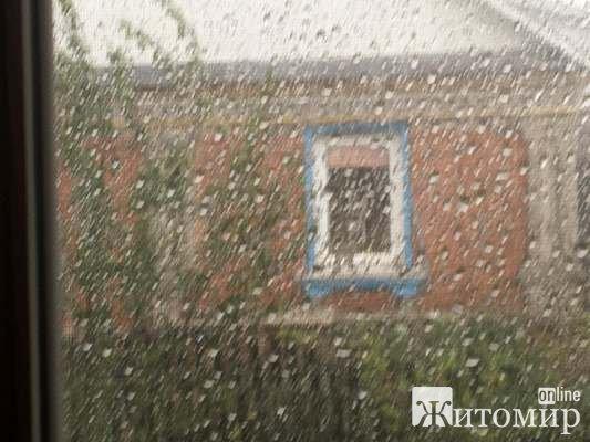 Зараз у Тетерівці під Житомиром страшна буря. ФОТО