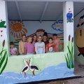 У селі Житомирської області діти розмалювали автобусну зупинку. ФОТО
