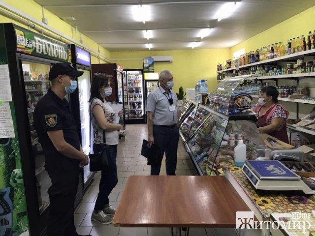 У двох районах Житомирської області моніторингові групи склали адмінпротоколи на власників торгових точок. ФОТО
