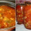 Рагу з кабачків та помідорів на зиму. Виходить дуже смачно та корисно