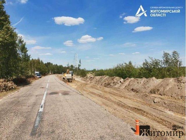 Вперше за 40 років у Житомирській області розпочато реконструкцію ще трьох ділянок шляху М-21. ФОТО