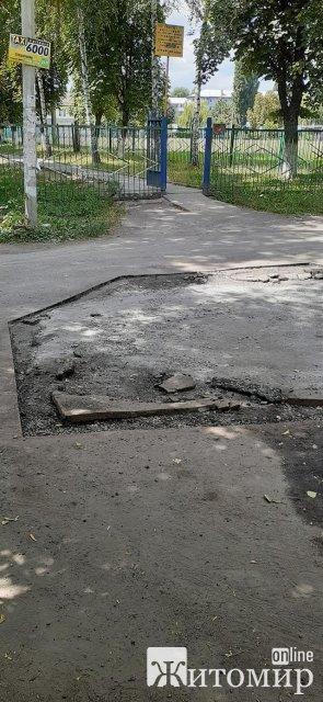 """""""Ляп-ляп, і готово"""" - на Польовій у Житомирі зробили дорогу до школи. ФОТО"""