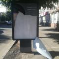 """""""Політичний вандалізм"""" в центрі Житомира! ФОТО."""