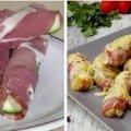 Ароматні, соковиті та дуже смачні кабачки в беконі з сиром