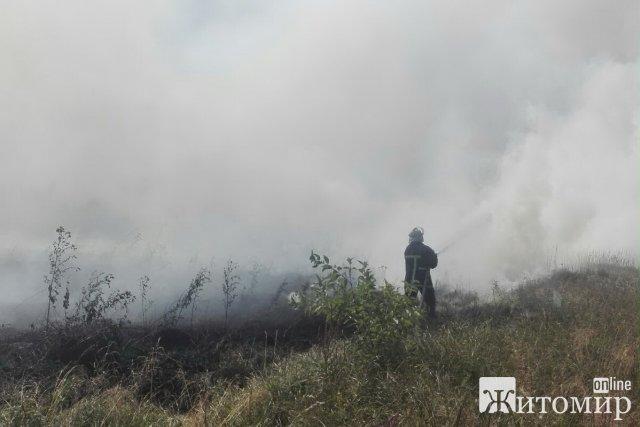 За добу рятуваники Житомирщини гасили займання соломи та сміття. ФОТО