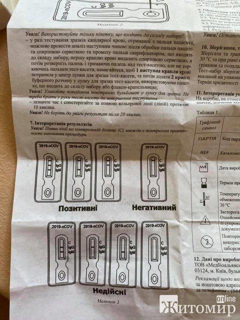 Жителів Житомирщини відправляють до лікарень та лікують від коронавірусу з негативними результатами? ФОТО