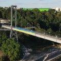 Команда Суспільного Житомира розгорнула 45-ти метровий синьо-жовтий прапор у центральному парку міста