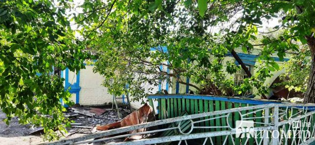 У селі Житомирської області палав будинок, пожежу помітили сусіди. ФОТО