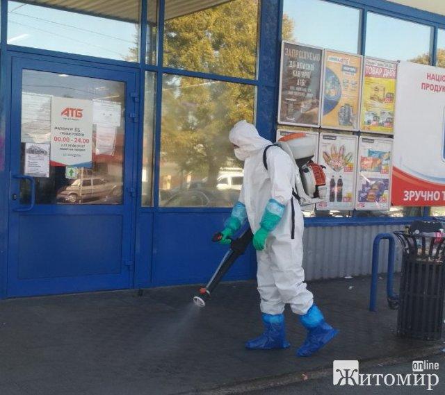 Коростишів: фахівці ДСНС продезінфікували чотири об'єкти для запобігання поширення інфекції