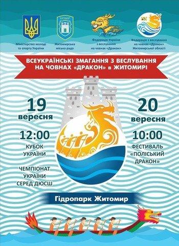 У Житомирі відбудуться всеукраїнські змагання з веслування