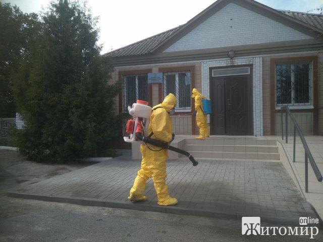 За минулу добу рятувальники Житомирщини продезінфікували шість об'єктів різного призначення