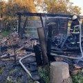У селі Житомирського району горіла господарча будівля: власнику стало зле і він помер до приїзду медиків. ФОТО