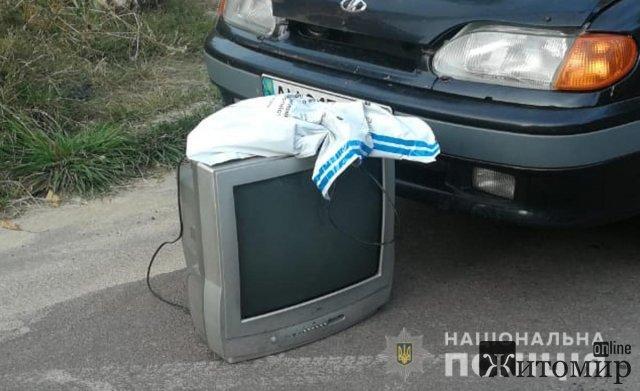 Житель Житомирського району викрав з будинку пенсіонерки телевізор, велосипед та інші цінні речі. ФОТО