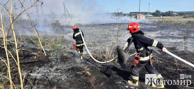 На Житомирщині люди знову почали спалювати суху траву: вогонь наближається до населених пунктів. ФОТО