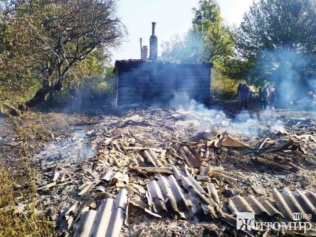 У селі Житомирської області горіла літня кухня: напередодні господарі куховарили. ФОТО