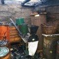 У селі на Житомирщині горіла господарча будівля. ФОТО