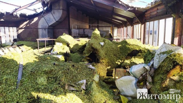 У селі Житомирської області горіла сушарка для хмелю. ФОТО