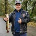 Житомирянин зловив на річці Очеретянка величеньку щуку. ФОТО