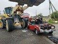 На Житомирщині навантажувач врізався у легковик, одна людина загинула. ФОТО