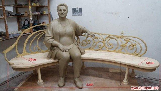 У центрі Житомира встановлять пам'ятник загиблій акторці Марині Поплавській. ФОТО