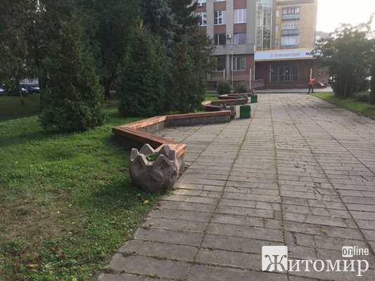 """На Новому бульварі у Житомирі будуватимуть """"якийсь майданчик"""". ФОТО"""