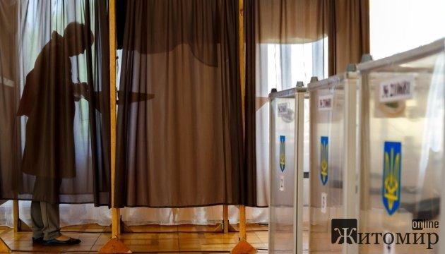 Перші дані ЦВК місцевих виборів у Житомирській області
