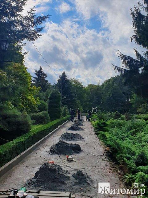 Ботанічний сад у Житомирі реконструюють. ФОТО