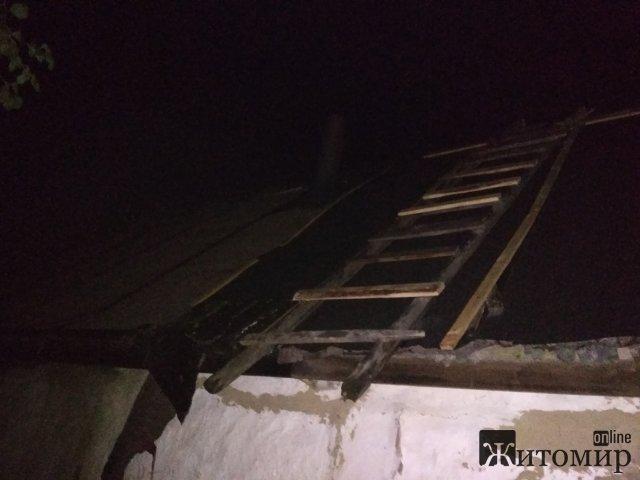 Рятувальники Житомирщини за добу виїжджали на 4 пожежі: горіли будинок, кухня та сміття. ФОТО