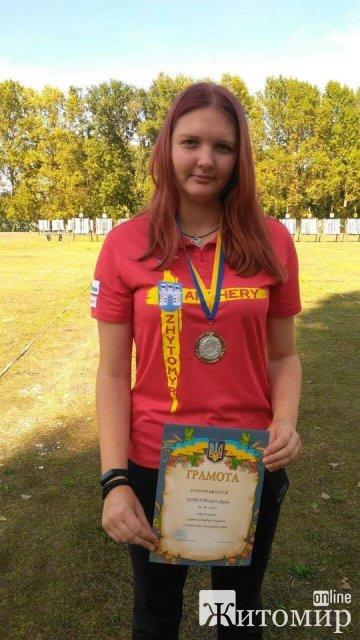Житомирянка здобула срібну перемогу на Кубку України зі стрільби з лука