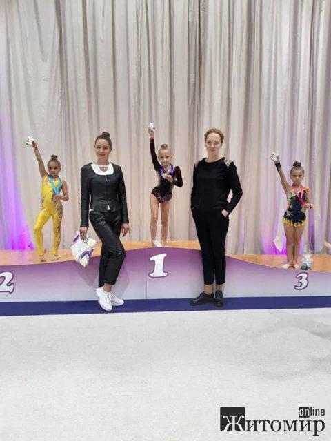 Гімнастки з Житомира вибороли призові місця на змаганнях в столиці. ФОТО