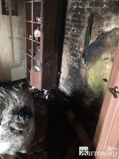 У селі Житомирської області горіла квартира: вогонь зупинили в межах однієї квартири. ФОТО