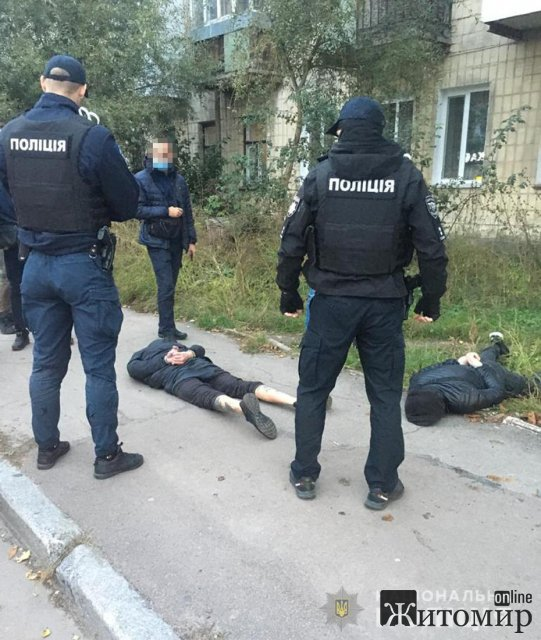 На провулку Вацківському в Житомирі поліцейські затримали домушників. ФОТО