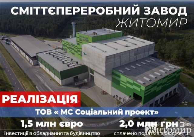 У Житомирі будівництво сміттєпереробного заводу розпочнуть у 2021 році