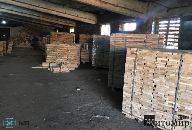 Четверо жителів Житомирської області організували незаконний експорт дубових пиломатеріалів до країн ЄС. ФОТО