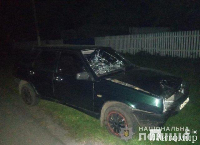 У селі на Житомирщині ВАЗ наїхав на жінку, потерпіла загинула.  ФОТО