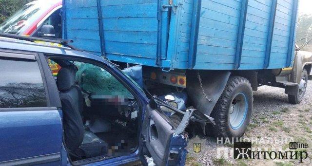 Поблизу Житомира зіштовхнулись Volkswagen та ГАЗ, є потерпілі