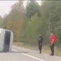 На трасі в Житомирській області перекинувся мікроавтобус