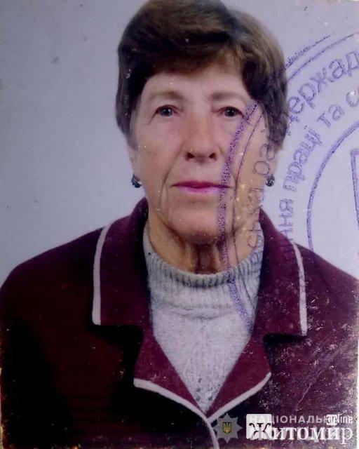 На Житомирщині рідні розшукують пенсіонерку, яка пішла з дому та зникла. ФОТО