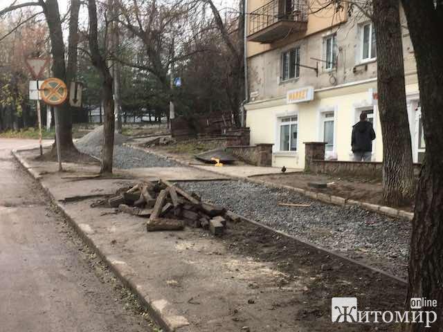 Житомиряни скаржаться на дуже повільну роботу міських комунальників. ФОТО