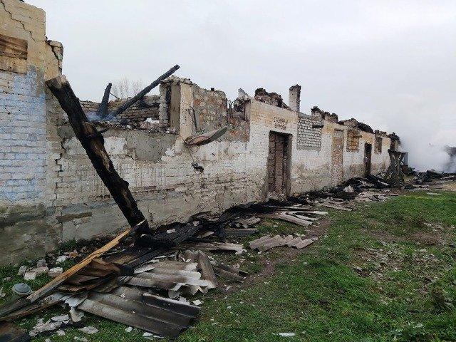 На Житомирщині бійці ДСНС 4 години гасили пожежу на деревообробному підприємстві. ФОТО