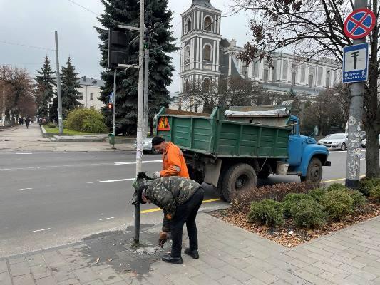 Житомирські вандали спалили урну на розі вулиць Київської та Театральної. ФОТО