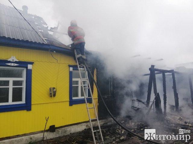 У селах Овруцького та Родомишльського районів горіли будинки. ФОТО