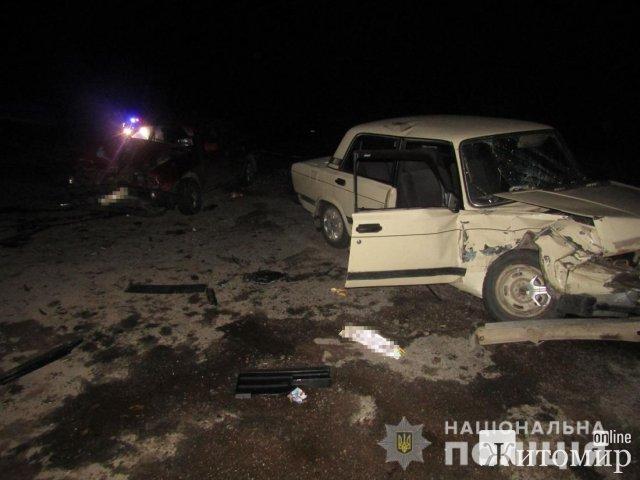 На дорозі в Житомирській області зіштовхнулись два автомобілі. ФОТО
