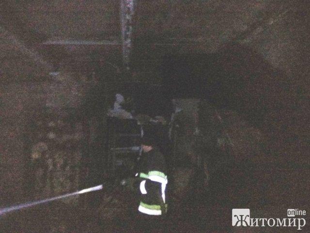 У селі біля Житомира на пожежі травмувався чоловік. ФОТО